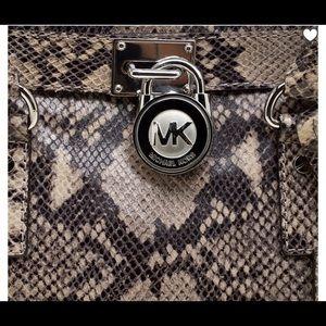 Michael Kors Bags - Michael Kors Python Embossed Leather Hamilton Bag